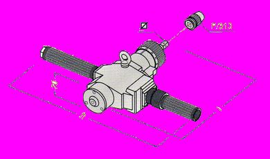 Rozwalcarka pneumatyczna MACROL - rysunek techniczny - Maus Italia