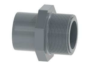 System klejony PVC-U - Element przejściowy nyplowo-mufowy - Georg Fischer