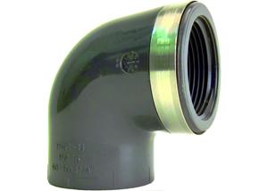 System klejony PVC-U - Kolano 90 z gwintem Rp - Georg Fischer