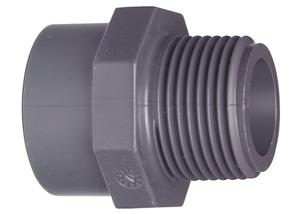 System klejony PVC-U - Mufa przejściowa PVC-U z gwintem zewnętrznym R - Georg Fischer