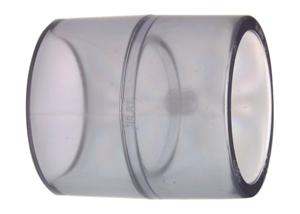 System klejony PVC-U - Mufa transparentna - Georg Fischer
