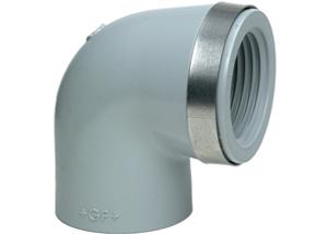 System klejony PVC-C - Kolano 90 z gwintem Rp - Georg Fischer